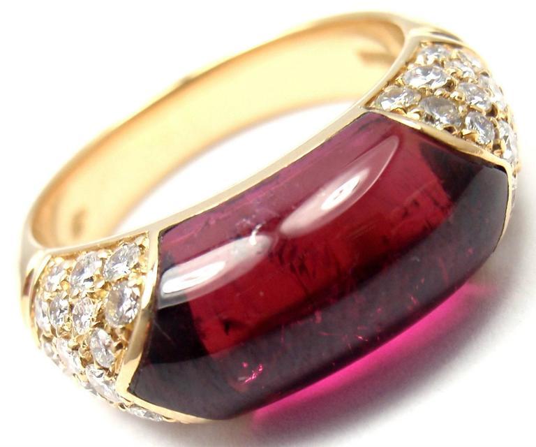 Bulgari Pink Tourmaline Diamond Gold Ring 6