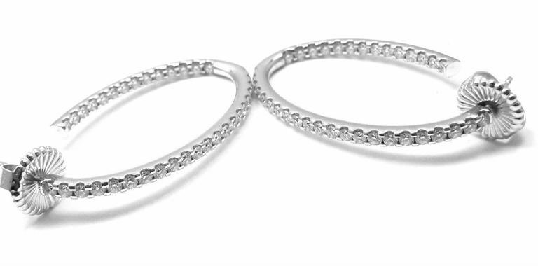 Hearts On Fire Hoopla Diamond Gold Oval Hoop Earrings 4