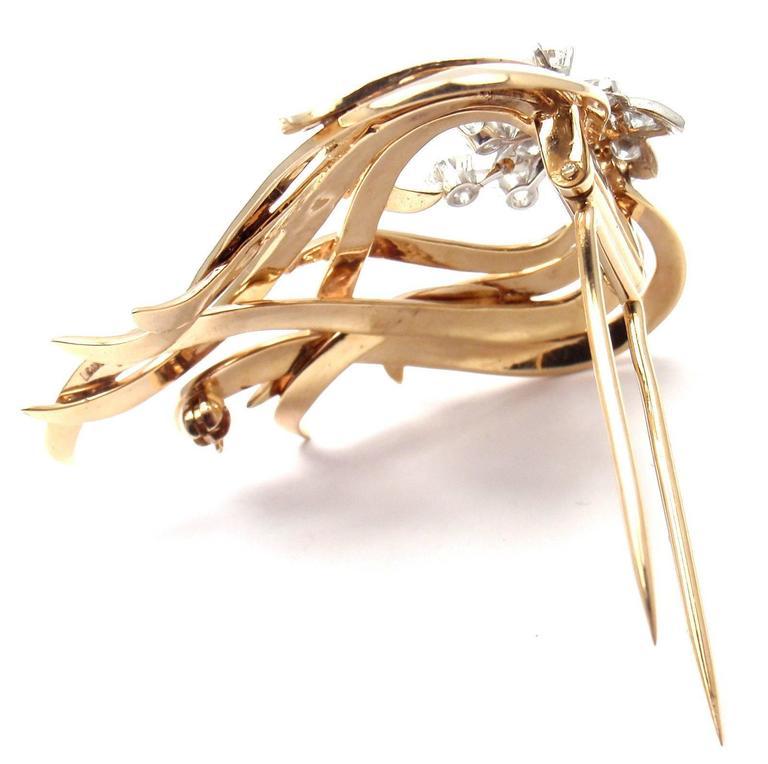 Tiffany & Co. Diamond Gold Platinum Pin Brooch For Sale 3