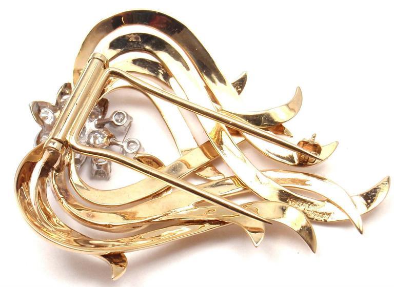 Tiffany & Co. Diamond Gold Platinum Pin Brooch For Sale 1