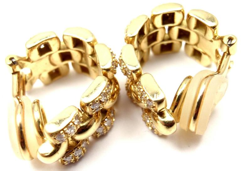Chopard Diamond Gold Hoop Earrings For Sale 6