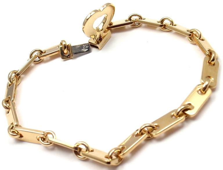cartier locking bracelet cartier gold lock charm link bracelet at 1stdibs 5512
