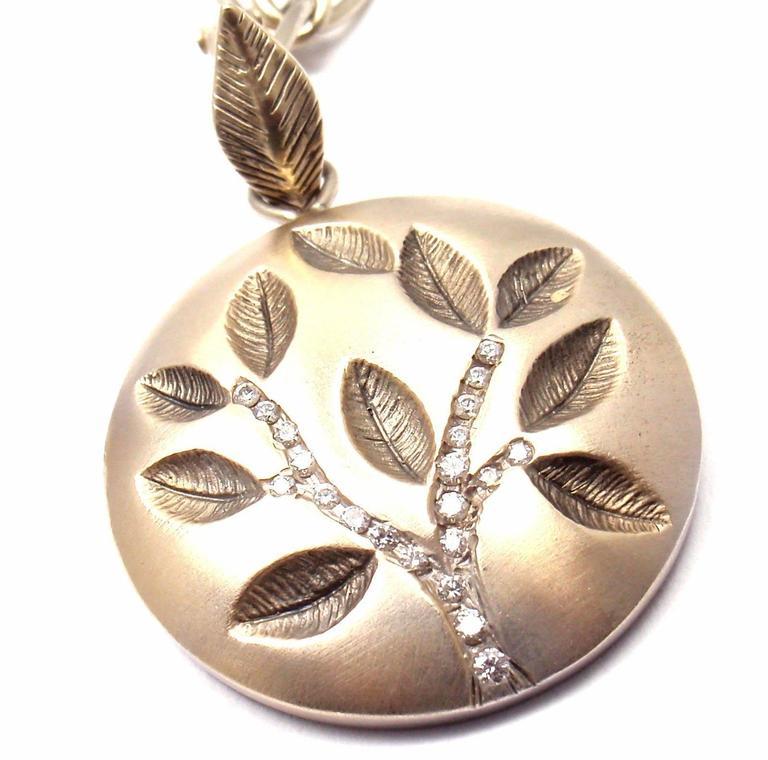 Anthony nak diamond gold tree of life pendant link necklace for sale 18k white gold diamond tree of life pendant necklace by anthony nak with 21 round aloadofball Image collections