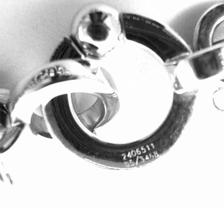 Chopard Happy Diamond Elephant Ruby Ladybug Bear Heart White Gold Charm Bracelet For Sale 4