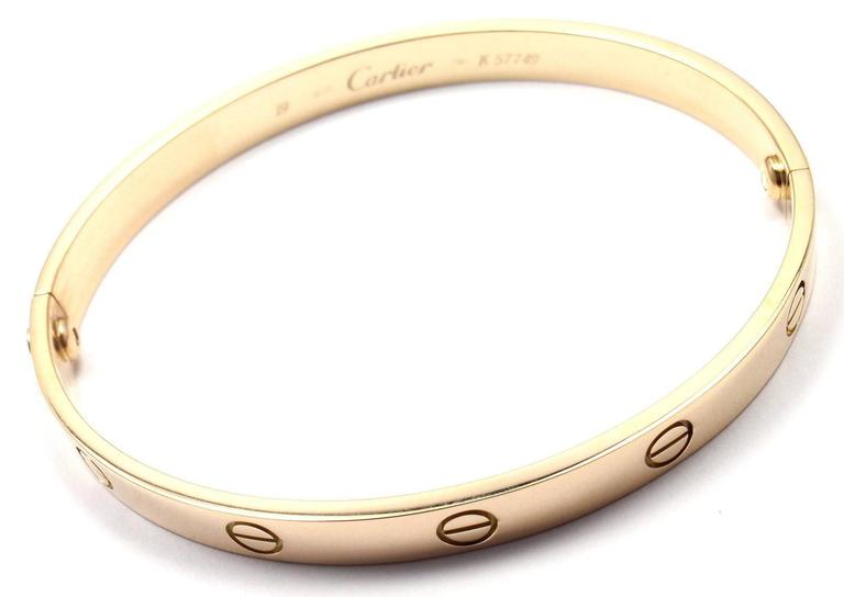 Cartier Love Yellow Gold Bangle Bracelet 5