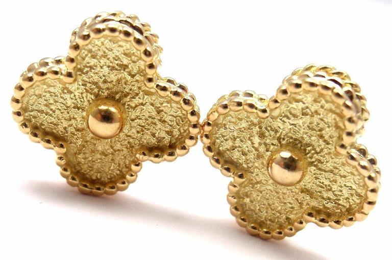 VAN CLEEF & ARPELS Vintage Alhambra Yellow Gold Earrings 2