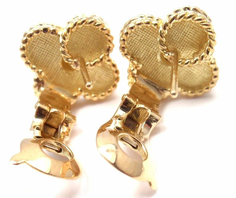 VAN CLEEF & ARPELS Vintage Alhambra Yellow Gold Earrings 8