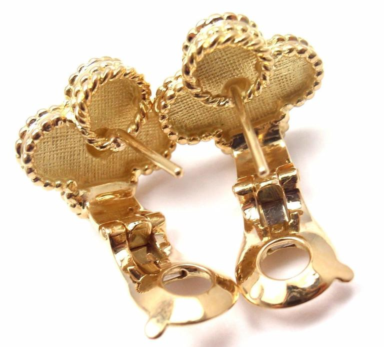 VAN CLEEF & ARPELS Vintage Alhambra Yellow Gold Earrings 6