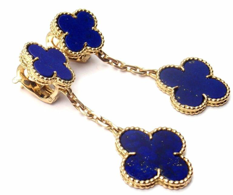 lapis lazuli dangle and vintage night earrings gold a day