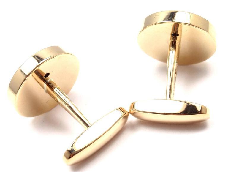 bulgari of pearl yellow gold cufflinks for sale at