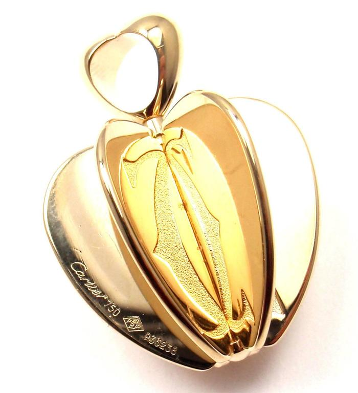 Cartier Double C Apple Heart Yellow Gold Charm Pendant 7