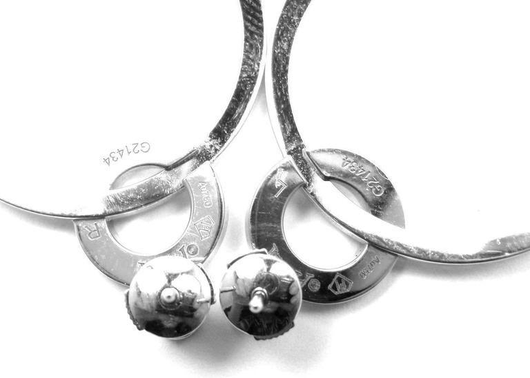 Piaget Possession Diamond Large White Gold Hoop Earrings 4