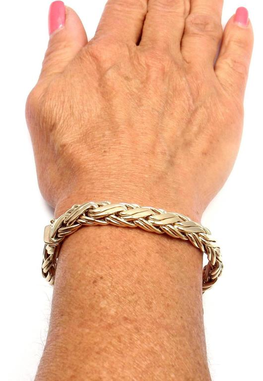 Tiffany & Co. Russian Weave Wide Yellow Gold Bracelet For Sale 3