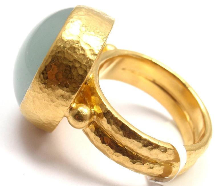 Gurhan Large Aquamarine Yellow Gold Ring 2