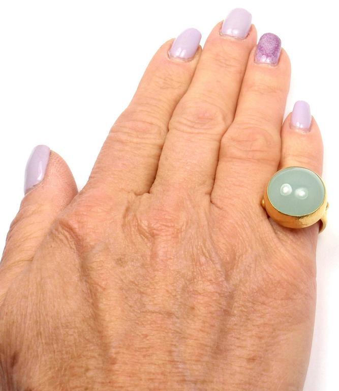 Gurhan Large Aquamarine Yellow Gold Ring 3