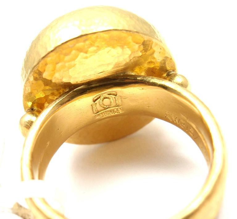 Gurhan Large Aquamarine Yellow Gold Ring 4