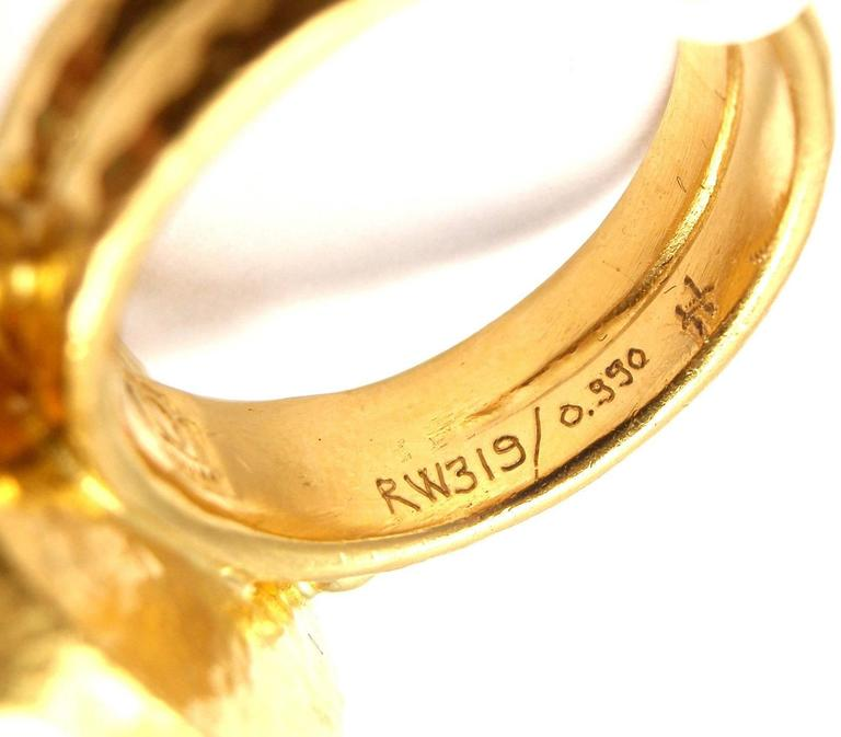 Gurhan Large Aquamarine Yellow Gold Ring 5