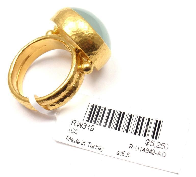 Gurhan Large Aquamarine Yellow Gold Ring 6