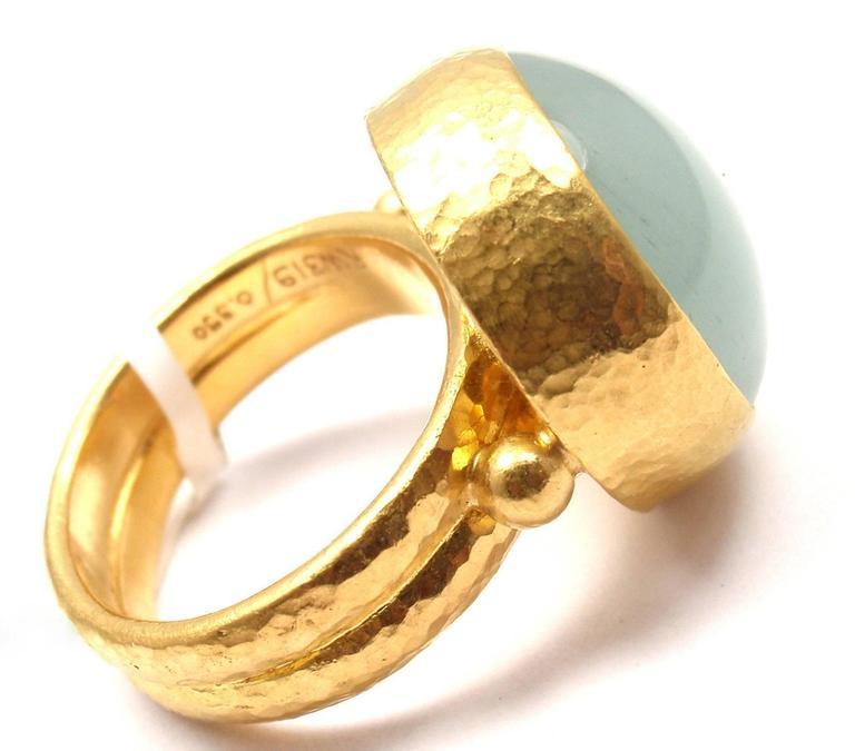 Gurhan Large Aquamarine Yellow Gold Ring 7