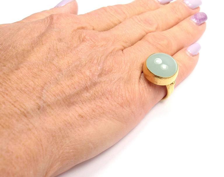 Gurhan Large Aquamarine Yellow Gold Ring 8