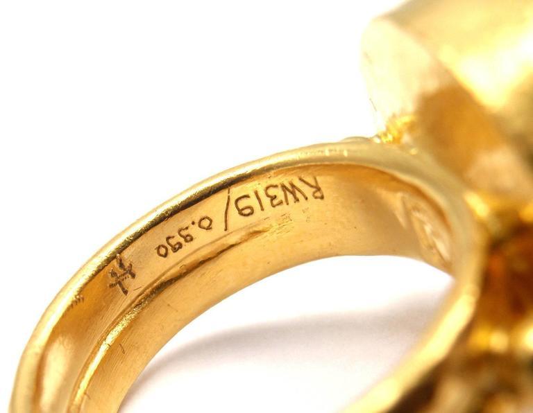 Gurhan Large Aquamarine Yellow Gold Ring 9