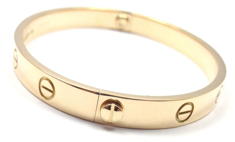 Cartier Love Yellow Gold Bangle Bracelet 2