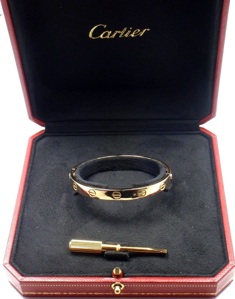 Cartier Love Yellow Gold Bangle Bracelet 3