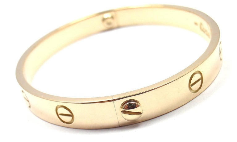 Cartier Love Yellow Gold Bangle Bracelet For Sale 2