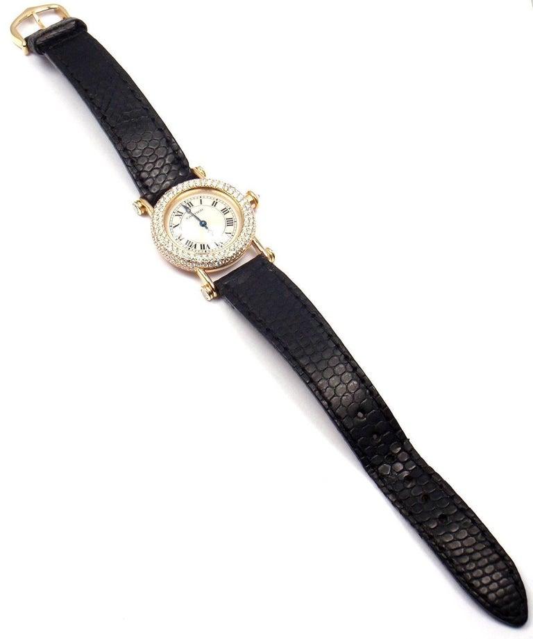 Cartier Ladies Yellow Gold Diamond Diabolo Quartz Wristwatch 3