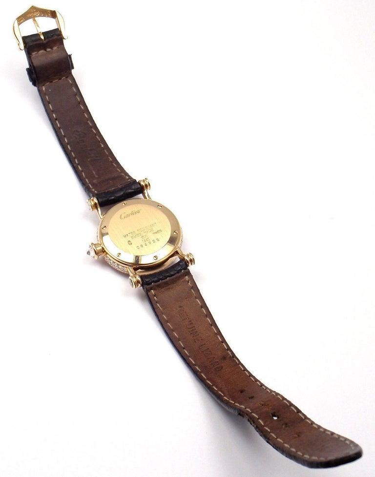 Cartier Ladies Yellow Gold Diamond Diabolo Quartz Wristwatch 4