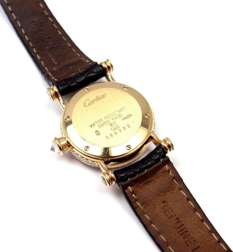 Cartier Ladies Yellow Gold Diamond Diabolo Quartz Wristwatch 5
