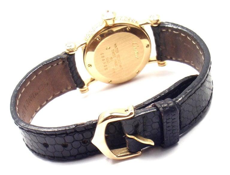 Cartier Ladies Yellow Gold Diamond Diabolo Quartz Wristwatch 6