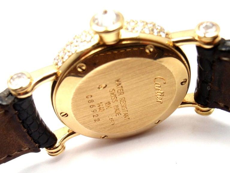 Cartier Ladies Yellow Gold Diamond Diabolo Quartz Wristwatch 7