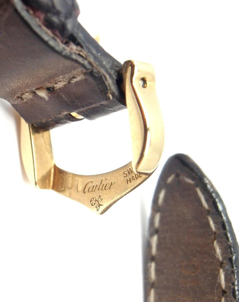 Cartier Ladies Yellow Gold Diamond Diabolo Quartz Wristwatch 8