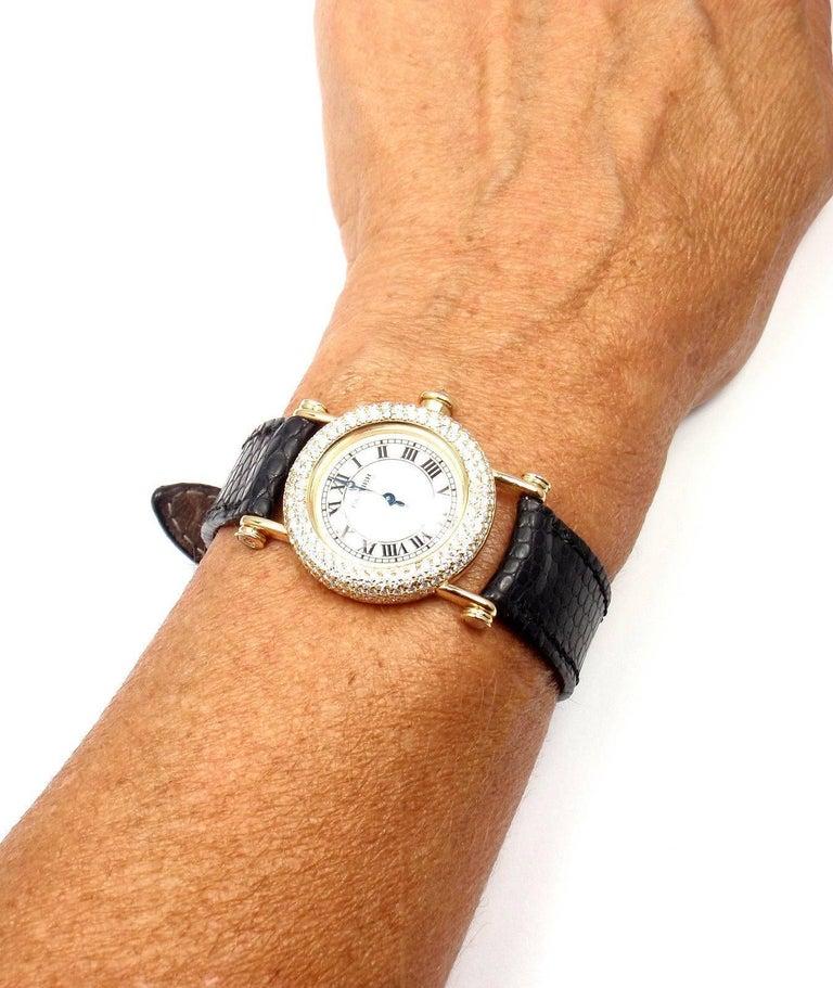 Cartier Ladies Yellow Gold Diamond Diabolo Quartz Wristwatch 10