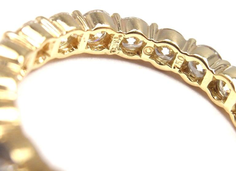 Tiffany & Co. Diamond Eternity Yellow Gold Wedding Band Ring 5