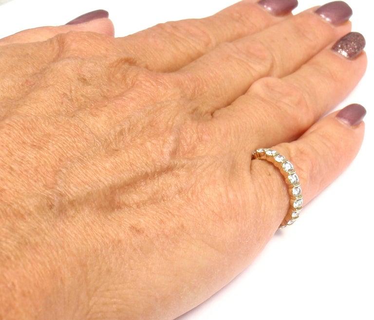 Tiffany & Co. Diamond Eternity Yellow Gold Wedding Band Ring 6