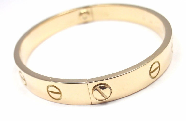 Cartier Love Yellow Gold Bangle Bracelet For Sale 5