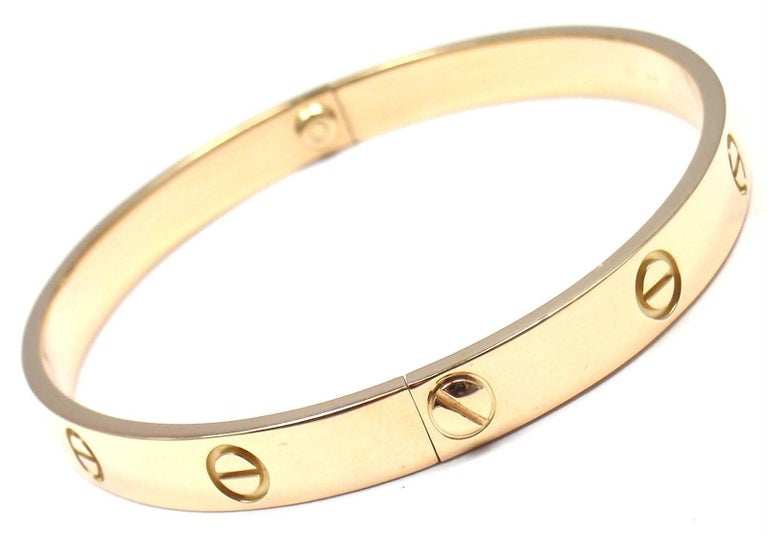 Cartier Love Yellow Gold Bangle Bracelet In As new Condition For Sale In Southampton, PA