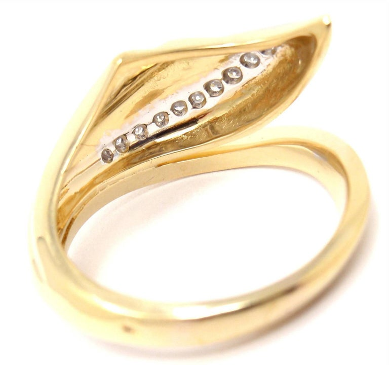 Damiani Diamond Yellow Gold Ring In New Condition For Sale In Southampton, PA