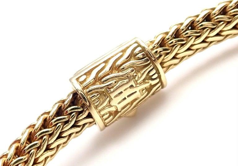 John Hardy Classic Chain Diamond Yellow Gold Bracelet At