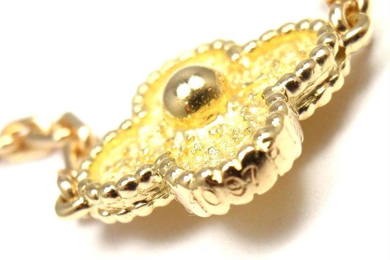 Women's or Men's Van Cleef & Arpels Vintage Alhambra Ten Motif Gold Necklace For Sale