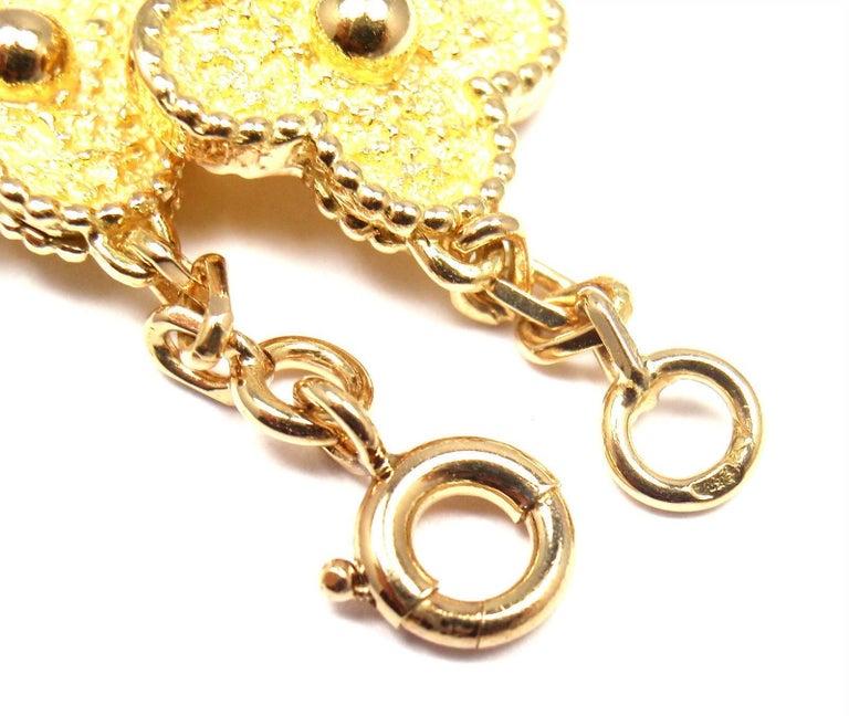 Van Cleef & Arpels Vintage Alhambra Ten Motif Gold Necklace For Sale 6