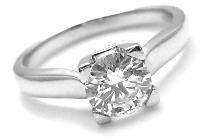 Harry Winston .71 Carat VVS2/F Diamond Solitaire Platinum Engagement Ring For Sale 2