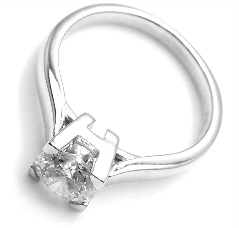Harry Winston .71 Carat VVS2/F Diamond Solitaire Platinum Engagement Ring For Sale 1