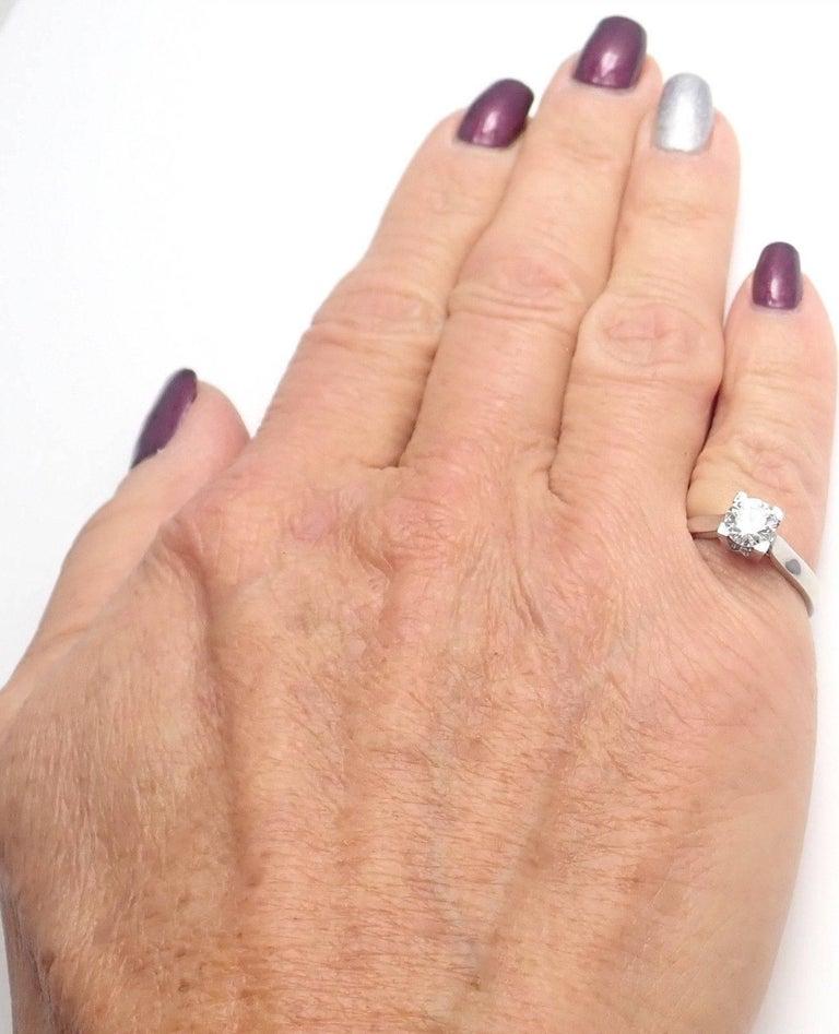 Harry Winston .71 Carat VVS2/F Diamond Solitaire Platinum Engagement Ring For Sale 3