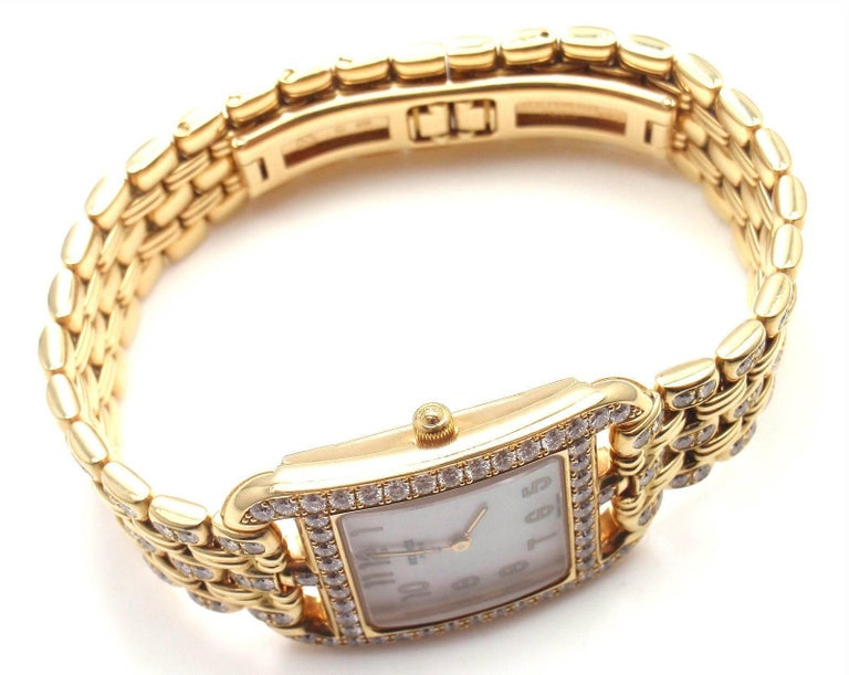 Hermes Ladies Yellow Gold Diamond Cape Cod Quartz Wristwatch 4