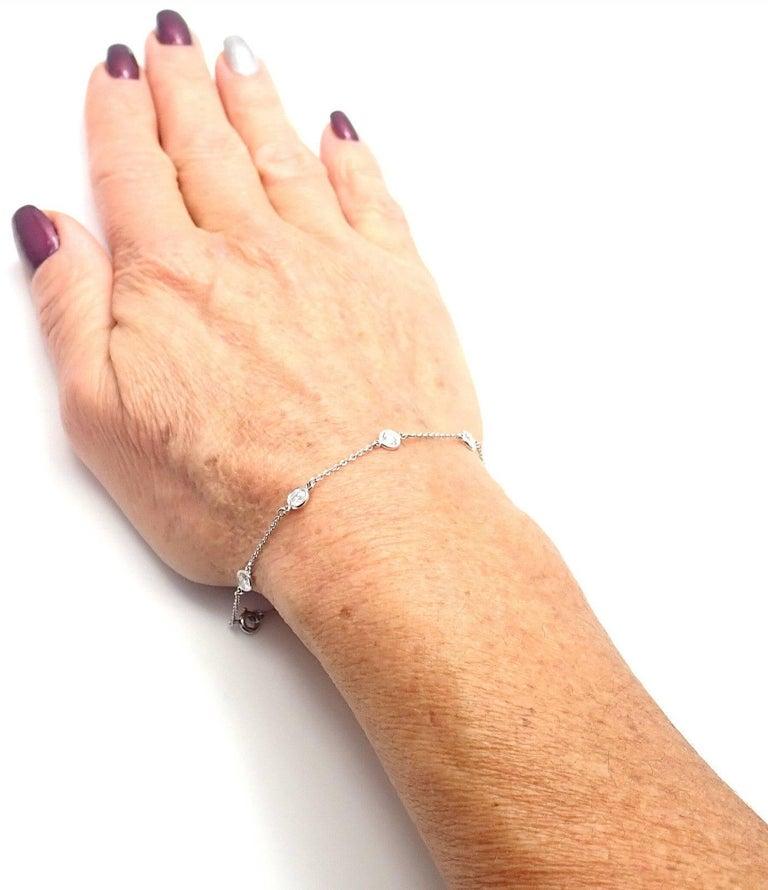 5821b63bbd80a Tiffany & Co. Elsa Peretti Diamond by the Yard Platinum Link Bracelet
