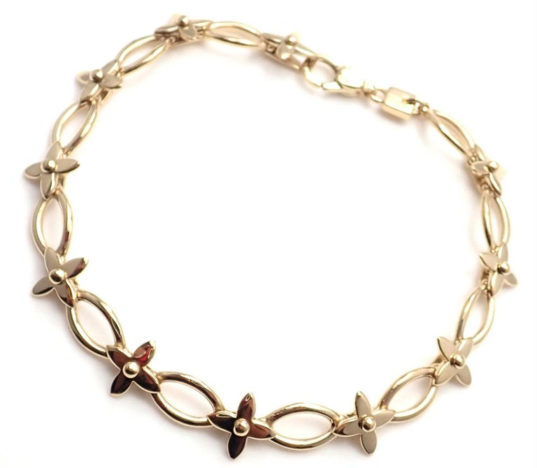 c2ac5f9cb100 18k Yellow Gold Idylle Blossom Link Bracelet by Louis Vuitton. This bracelet  is limited edition