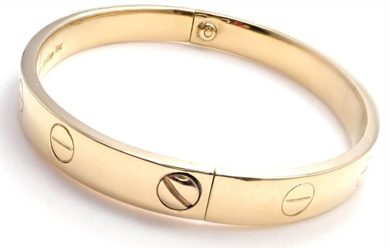 Cartier Vintage Original Aldo Cipullo Yellow Gold Love Bracelet In As New Condition For Sale In Southampton, PA